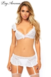 Ensemble lingerie Mesh White