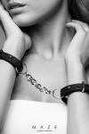 Menottes bracelets noir - Maze